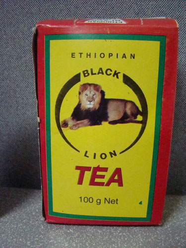 Black Lion Tea package